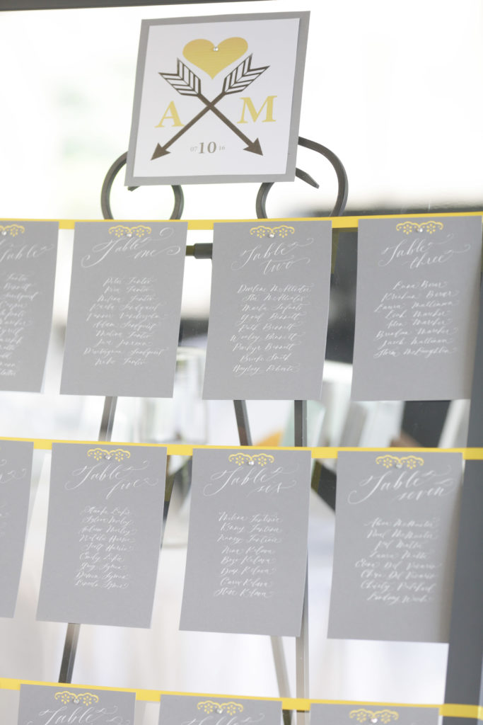 Anita and Mark Calligraphy Seating Chart