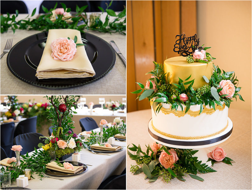 Wedding cake and decor a wish to wed
