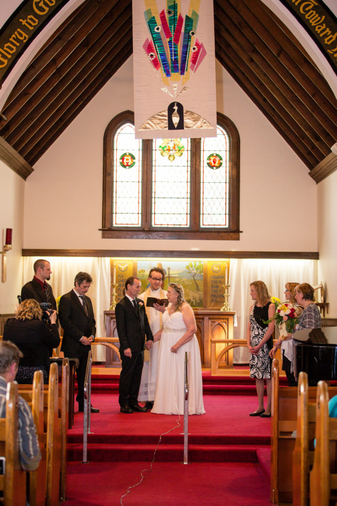 St. Augustines church wedding in Spring Vancouver