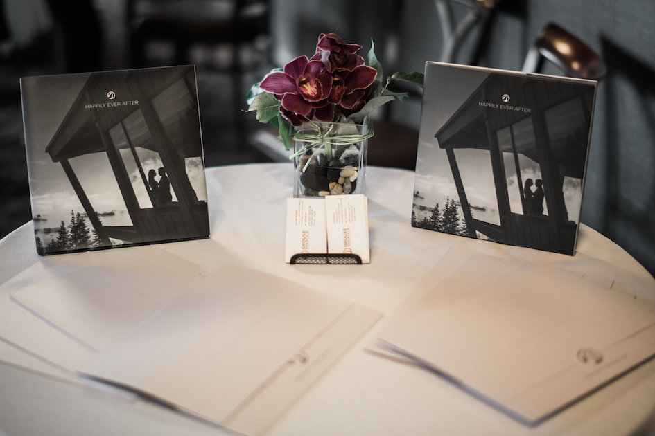 Business Cards and Grouse Mountain wedding brochures